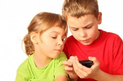 Children Playing On Smartphone